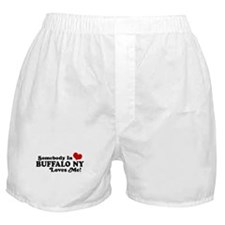 Somebody In Buffalo NY Loves Me Boxer Shorts