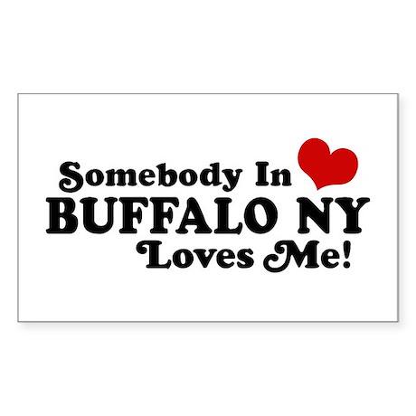 Somebody In Buffalo NY Loves Me Sticker (Rectangle