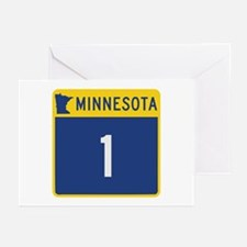 Trunk Highway 1, Minneso Greeting Cards (Pk of 10)