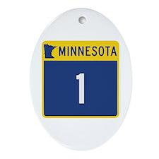 Trunk Highway 1, Minnesota Ornament (Oval)