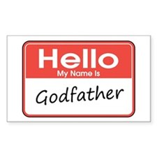 Hello, My Name is Godfather Rectangle Decal