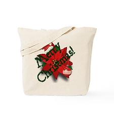 Merry Christmas Reusable Canvas Tote Bag
