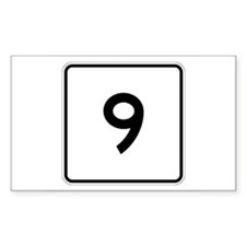 State Route 9, Maine Rectangle Decal