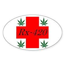 Rx 420 Oval Bumper Stickers