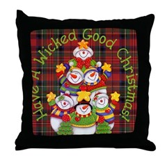 Wicked Good! Christmas Throw Pillow