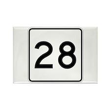 Route 28, Massachusetts Rectangle Magnet