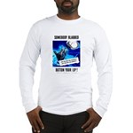 Somebody Blabbed Gossip (Front) Long Sleeve T-Shir