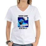 Somebody Blabbed Gossip Women's V-Neck T-Shirt