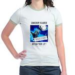 Somebody Blabbed Gossip (Front) Jr. Ringer T-Shirt