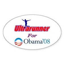 Ultrarunner for Obama Oval Decal