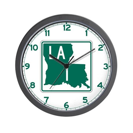 Highway 1, Louisiana Wall Clock