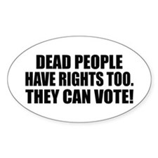Voter Fraud Oval Decal