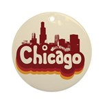 Retro Chicago Keepsake (Round)