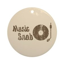 Music Snob Keepsake (Round)