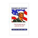 Enlist in the US Navy Rectangle Sticker