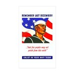 Enlist in the US Navy Rectangle Sticker 10 pk)