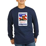 Enlist in the US Navy (Front) Long Sleeve Dark T-S