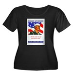 Enlist in the US Navy (Front) Women's Plus Size Sc