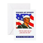 Enlist in the US Navy Greeting Card