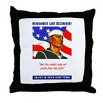 Enlist in the US Navy Throw Pillow