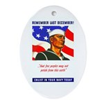 Enlist in the US Navy Oval Ornament
