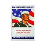 Enlist in the US Navy Rectangle Magnet