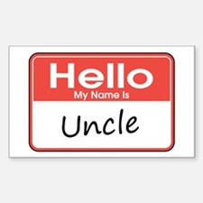 Hello, My Name is Uncle Rectangle Decal
