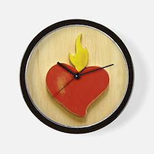 Sacred Heart 9 Wall Clock