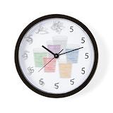 5 o somewhere Wall Clocks