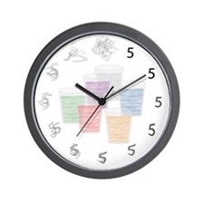 Fuzzy Shots Wall Clock
