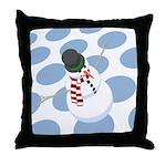 Bliz the Snowman Dotted Throw Pillow