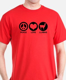 Peace Love Llamas T-Shirt