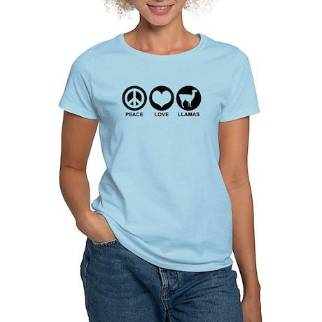 Peace Love Llamas Women's Light T-Shirt