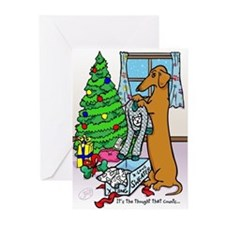 Dachshund Sweater Christmas Cards (10)