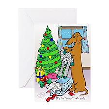 Dachshund Sweater Christmas Card