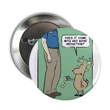 """WTD Holiday - Red Nose Reduct 2.25"""" Button"""