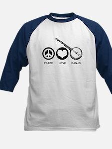 Peace Love Banjo Kids Baseball Jersey
