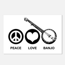 Peace Love Banjo Postcards (Package of 8)