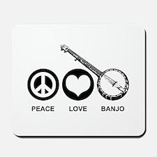 Peace Love Banjo Mousepad
