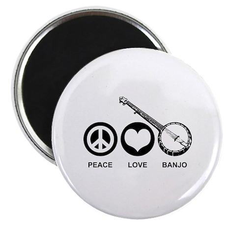 Peace Love Banjo Magnet