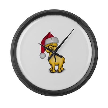 Christmas Alpaca Large Wall Clock
