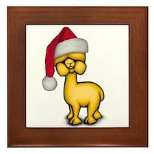 Christmas Alpaca Framed Tile