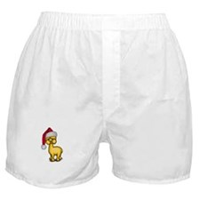 Christmas Alpaca Boxer Shorts