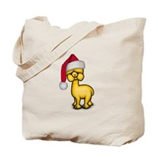 Christmas Alpaca Tote Bag
