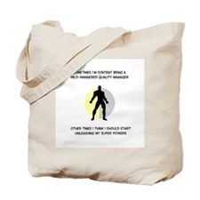 Quality Manager Superhero Tote Bag