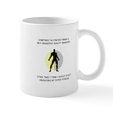 Quality Manager Superhero Small Mug