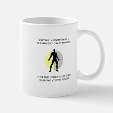 Quality Manager Superhero Small Small Mug