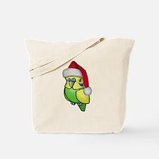 Christmas Budgie Tote Bag