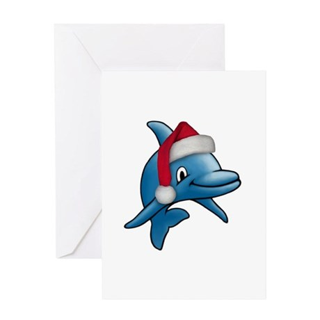 Christmas Dolphin Greeting Card