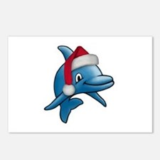 Christmas Dolphin Postcards (Package of 8)